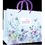 Пакет бумажный «Бабочки в цветах», 1шт