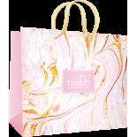 Пакет бумажный «Лазурный берег розовый», 1шт