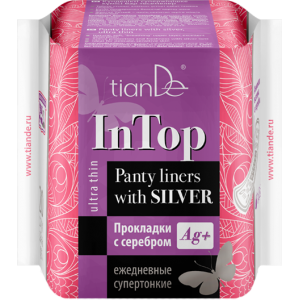 Прокладки с серебром «In Top» супертонкие ежедневные, 20шт